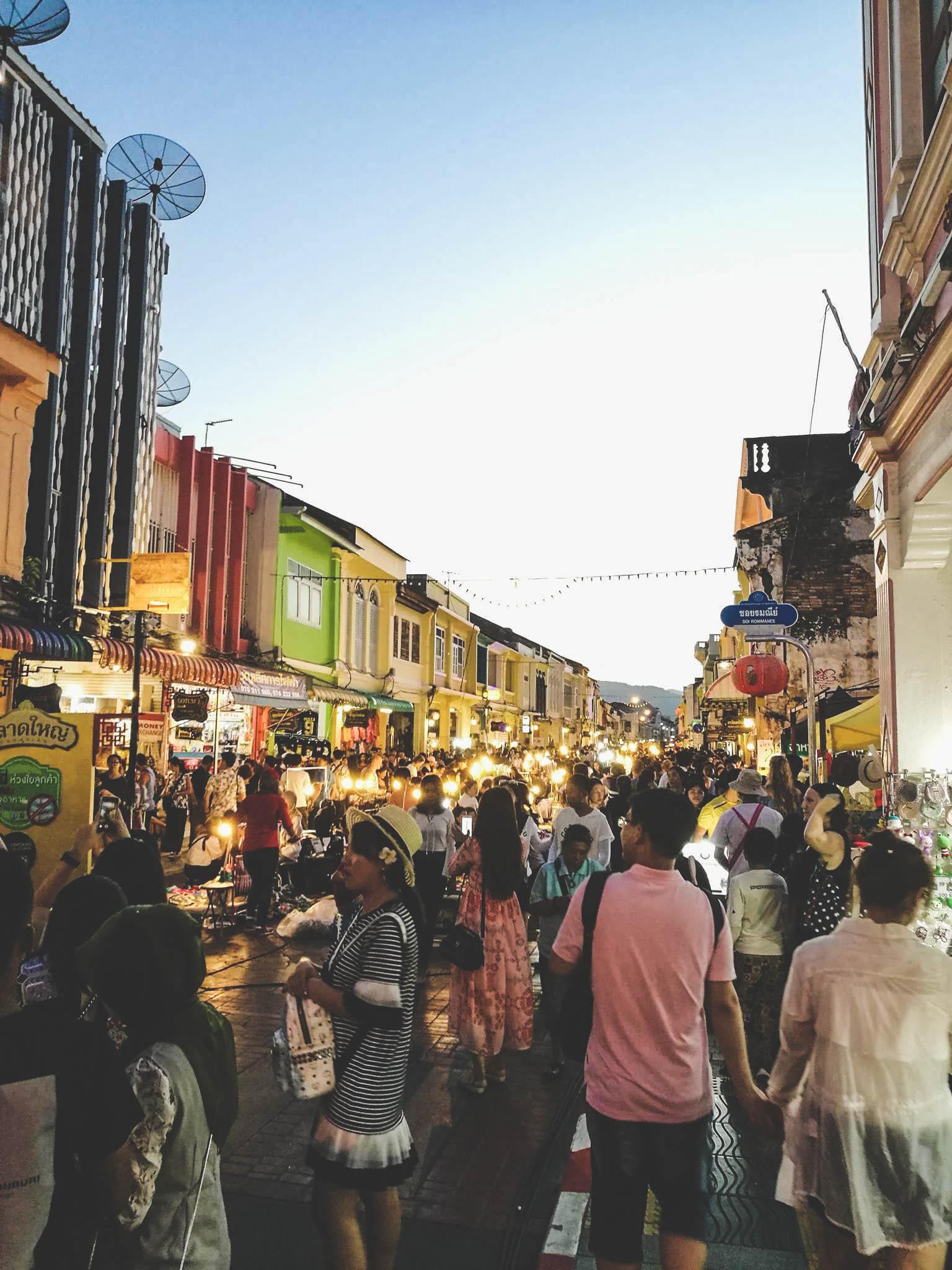 Sunday street market phuket
