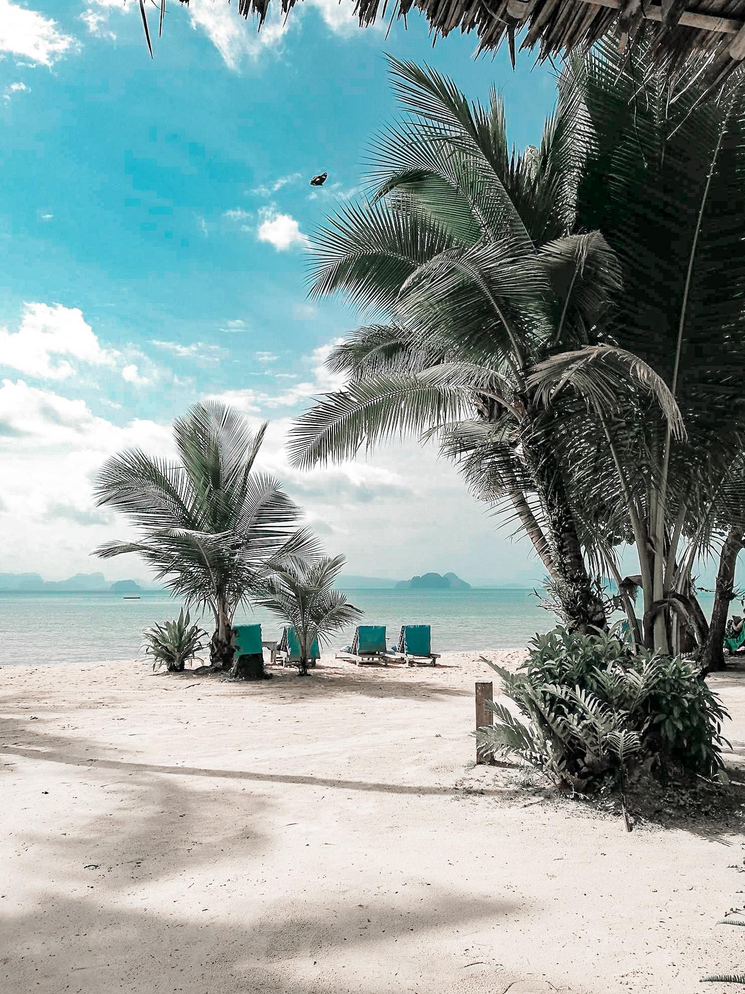 La plage de l'hôtel Koh Yao Paradise