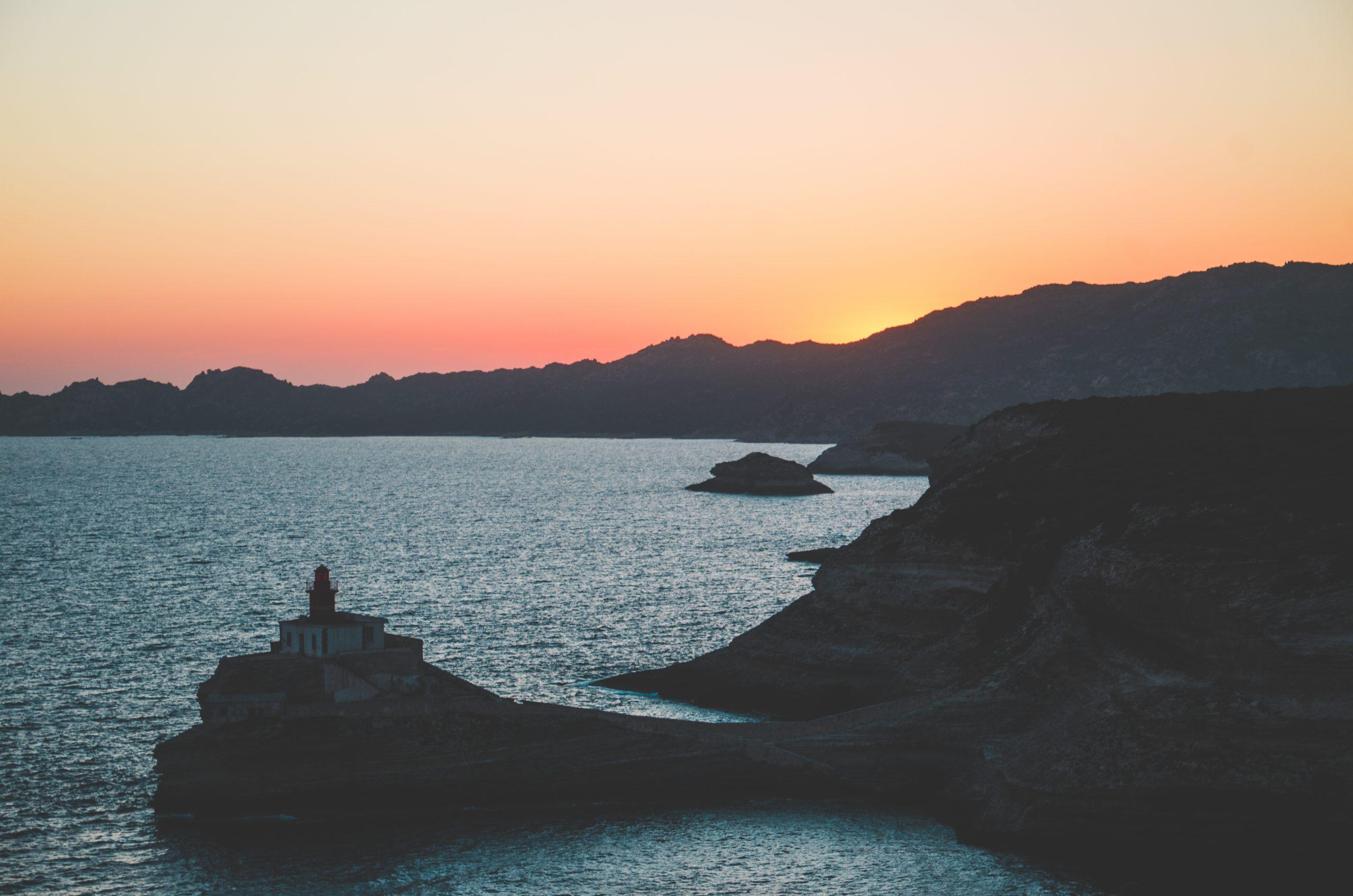 Un coucher de soleil à Bonifacio