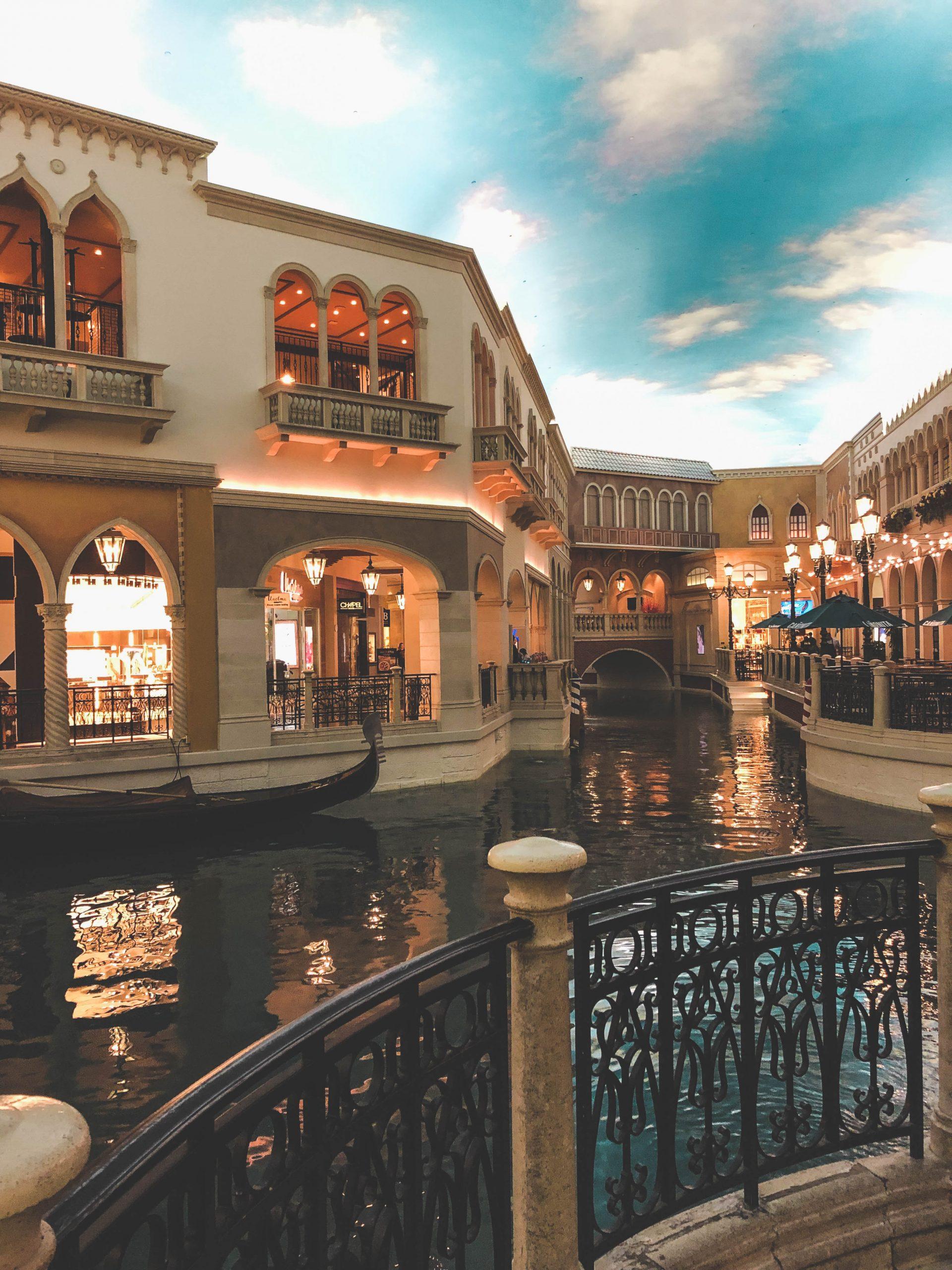 Reconstitution de la ville de Venise en plein Las Vegas