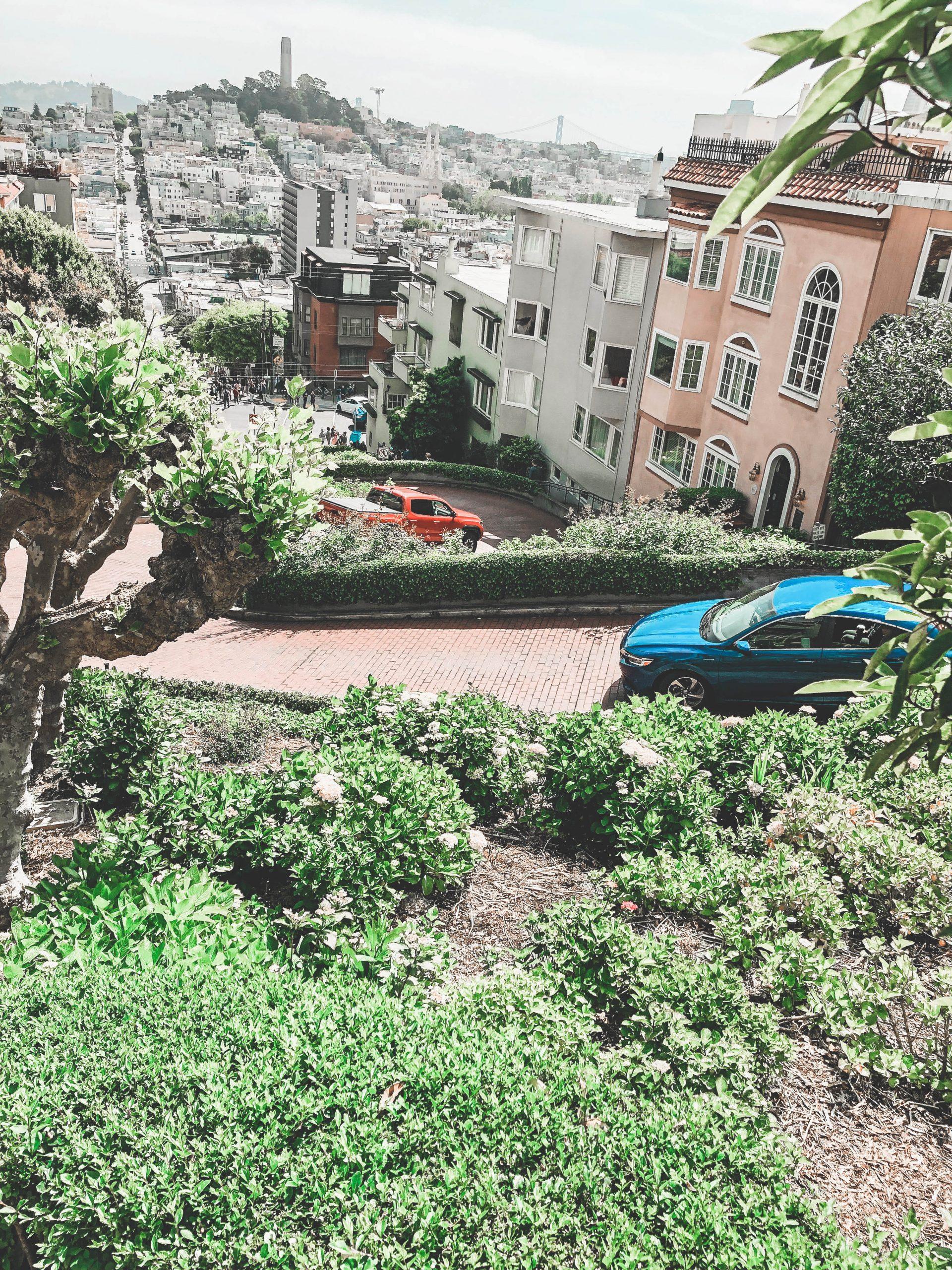 Lombard Street, vue du haut