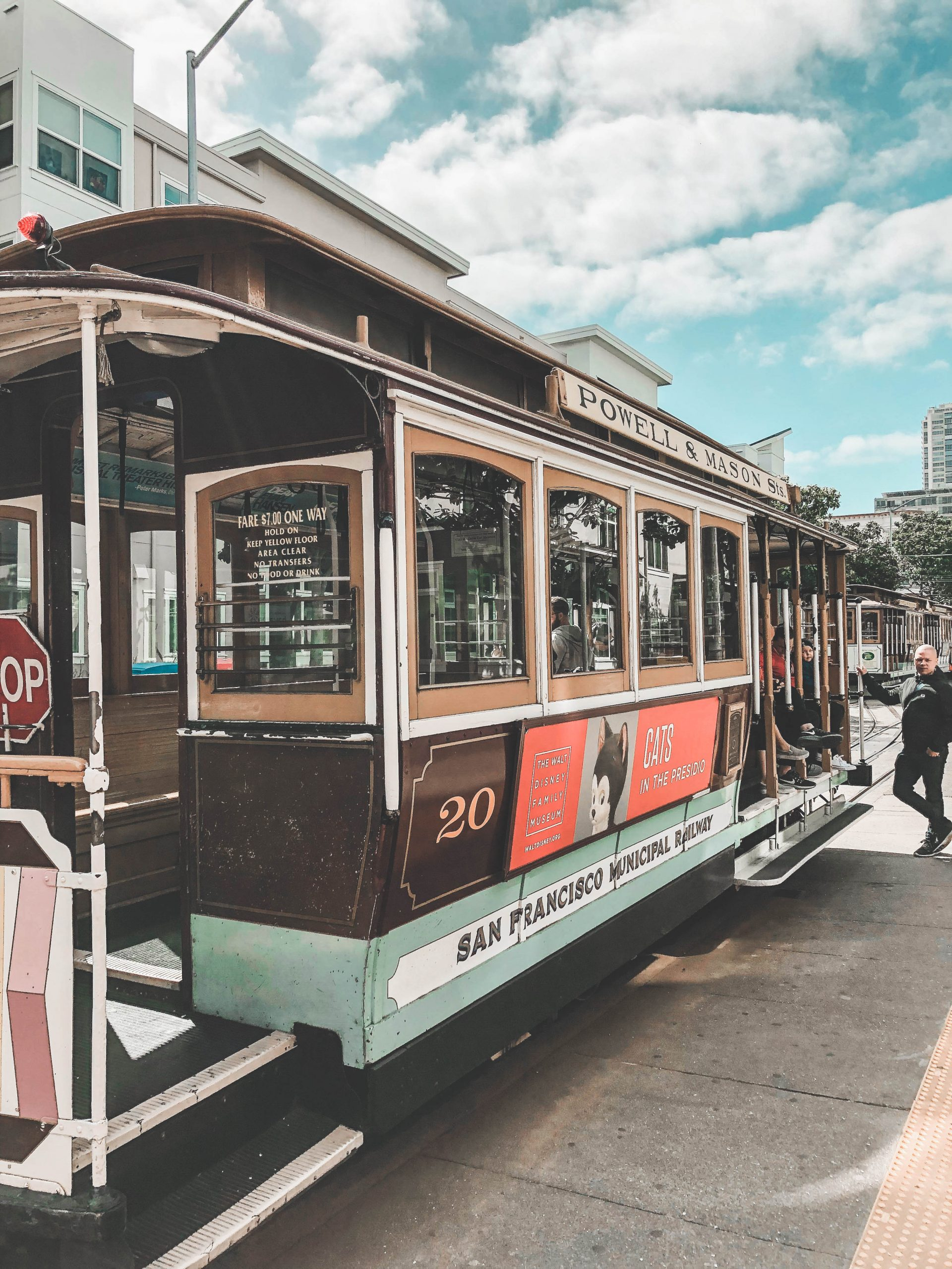 Cable car vintage de San Francisco