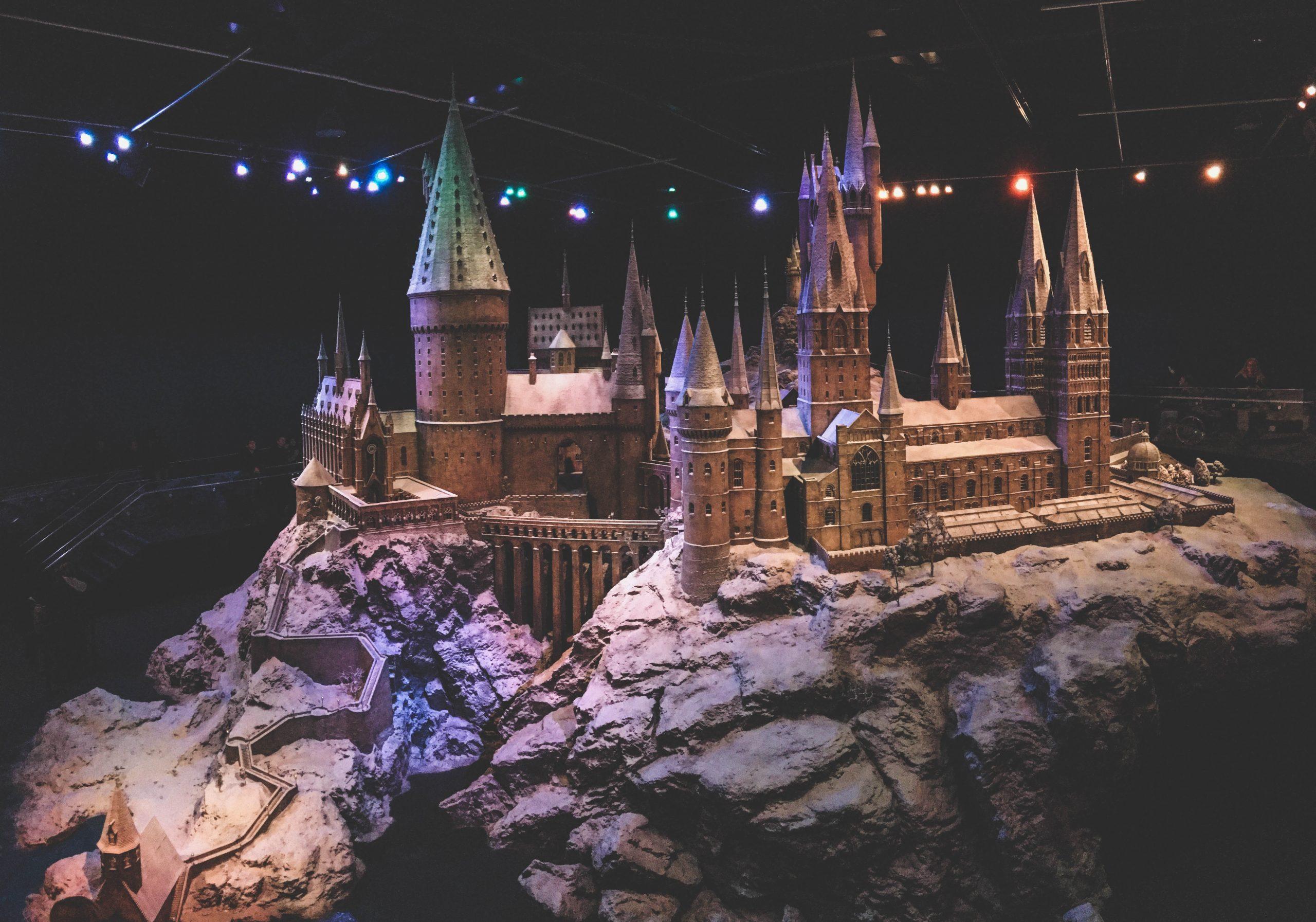 Maquette gigantesque de Poudlard dans Harry Potter