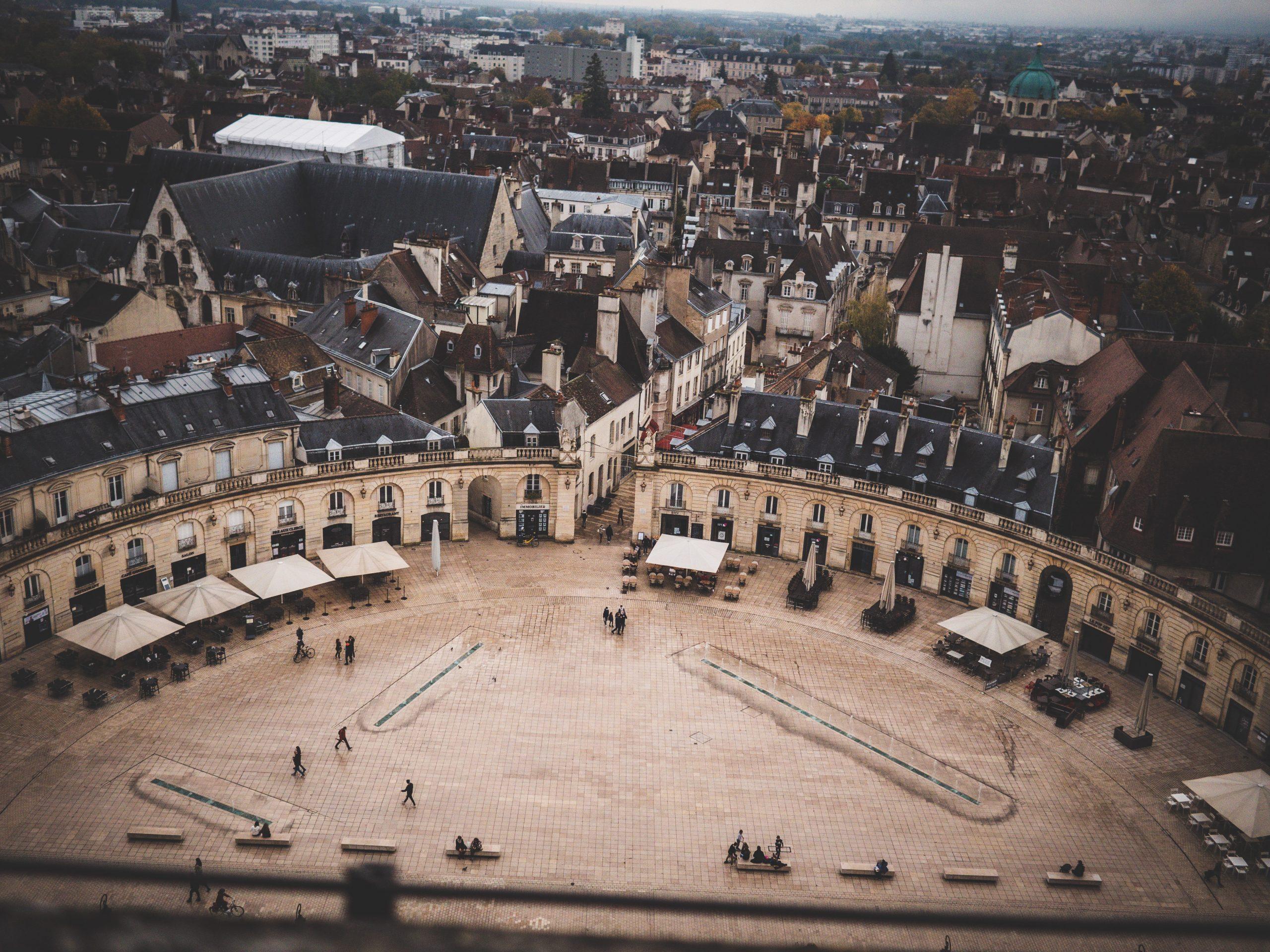 Place de la Libération depuis la tour Philippe Le Bon
