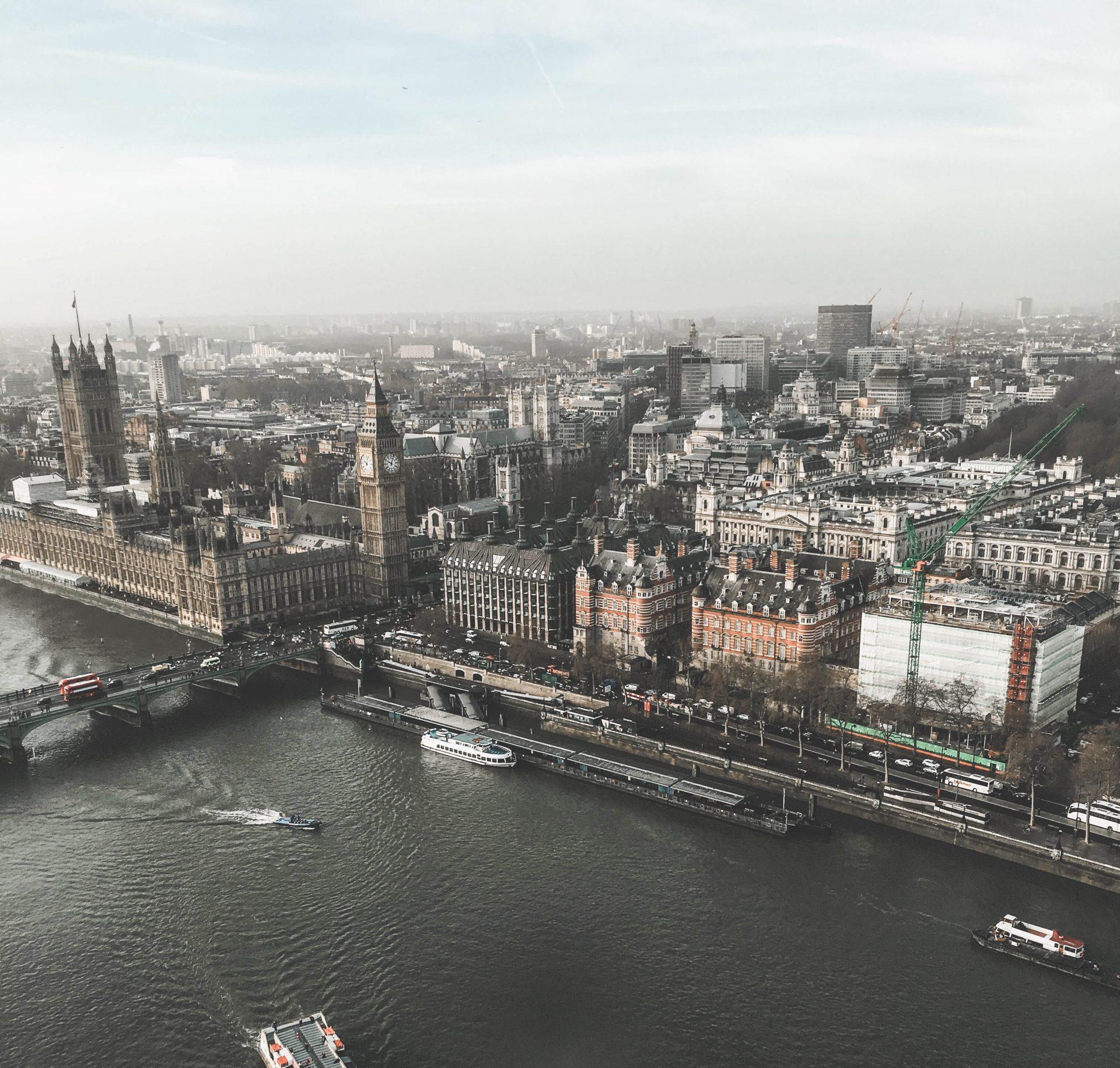 Vue sur Londres depuis London Eye