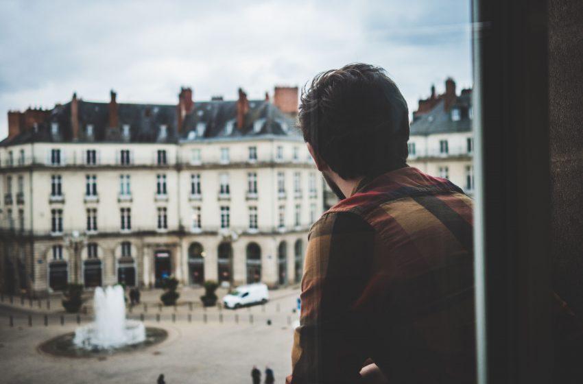 Vue depuis la chambre de l hotel de France à Nantes