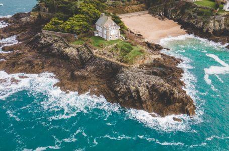 Plage du Nicet en drone en Bretagne